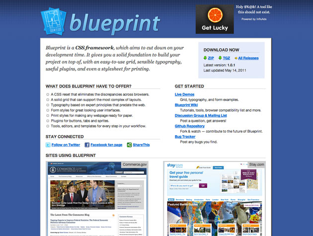 Blueprint best web design tools description blueprint is a css malvernweather Images