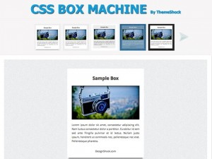 CSS Box Machine