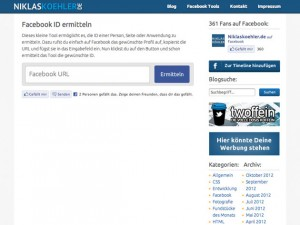 Detect Facebook ID