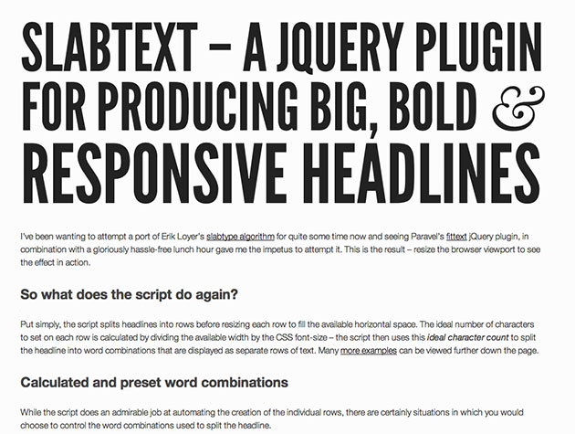 slabText | Best Web Design Tools