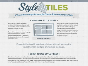 Style Tiles