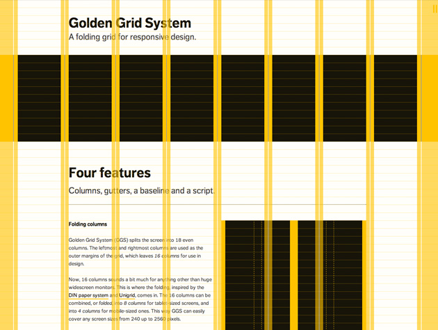 Golden Grid System Best Web Design Tools