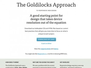 The Goldilocks Approach