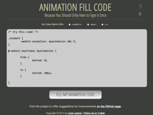 Animation Fill Code