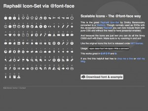Raphaël Icon-Set via @font-face