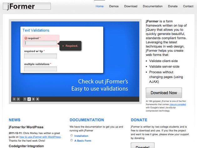 Jformer Best Web Design Tools