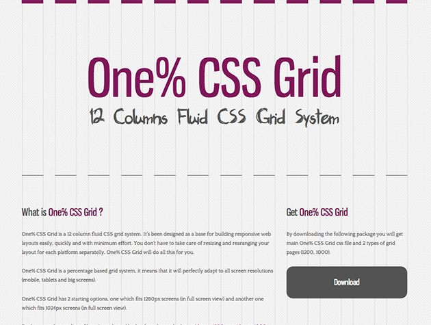 One Css Grid Best Web Design Tools