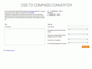 CSS To Compass (SCSS) Converter
