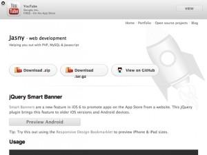 jQuery Smart Banner