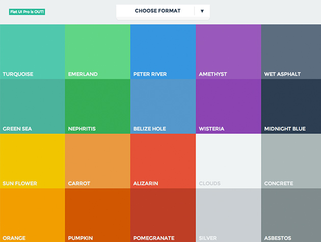 flat ui colors best web design tools